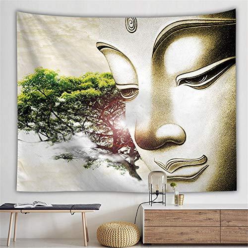 HYSGT Wandteppiche,Buddhismus Vintage Indische Mandala Böhmischen Wandbehang Buddha Dekorative Tapisserie Tapisserie @ F150X200Cm