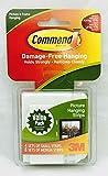3M Command Strips Haken Dekorieren Schäden frei Bild Poster zum Aufhängen alle Zweck Verwendung Utility Foto Dekoration Haken, Klettverschlussstreifen, Weiß, Small & Medium Value Pack