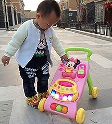 New Versla 42 * 34 * 45cm walker carts 1-3 year old childrens Pink music Walker