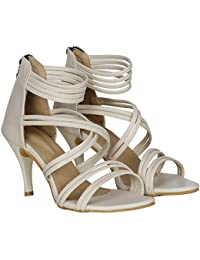 MISTO Women's Synthetic Leather High Heels Sandal