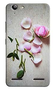 Omnam White Rose Printed Designer Back Cover Case For Lenovo Vibe K5 Plus