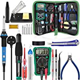 Soldering Kit,Soldering Iron with Multimeter,NO-Soldering Welding Tools/Cutter/Solder Wire/Solder Iron Tip and PU Tools Bag