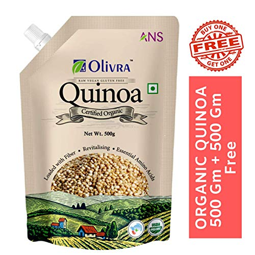 ANS OLIVRA Quinoa with Raw Vegan Gluten-Free Certified Organic Product for Weight Loss (500, 500 g)