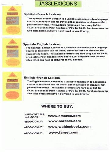 Spanish- English Lexicon (JAS3LEXICONS) por Jimmy A. Seanosky