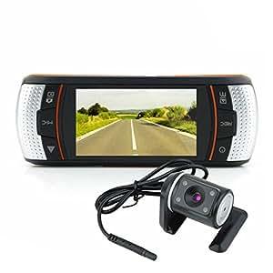 """Double lentille HD 1080P 2,7 """"pour tableau de bord voiture DVR caméra arrière du véhicule distinct"""