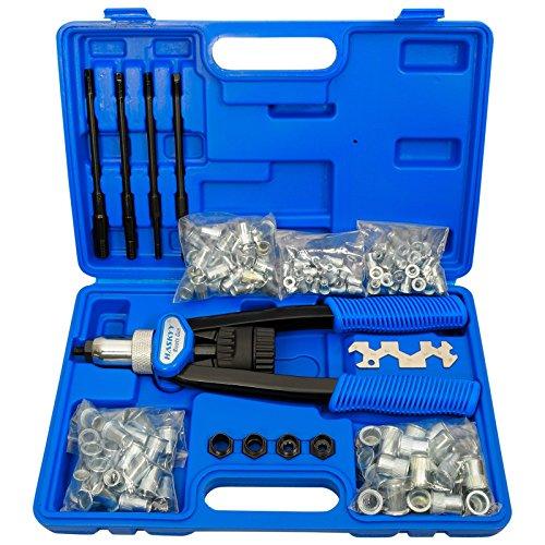 Alicate, remachadora de tuercas profesional, incluye 150 tuercas M5M6M8M10M12