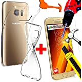 *** COFFRET INCASSABLE *** Etui Housse SAMSUNG GALAXY A5 2017 coque silicone Gel TPU + FILM PROTECTION Ecran en VERRE Trempé filtre d'écran INVISIBLE & INRAYABLE vitre pour Smartphone A 5 7 A520F 17 or 4G
