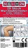 20er Set Wundnahtstreifen-Strips / Klammerpflaster Nahtmaterial Wundverschluss-Streifen 6 x 102 mm