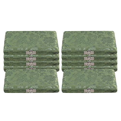 bqlzr grün Seide Holz Fagott Reed Box Reed Fall mit Flanell Slot Innen für 6-reeds 10Stück