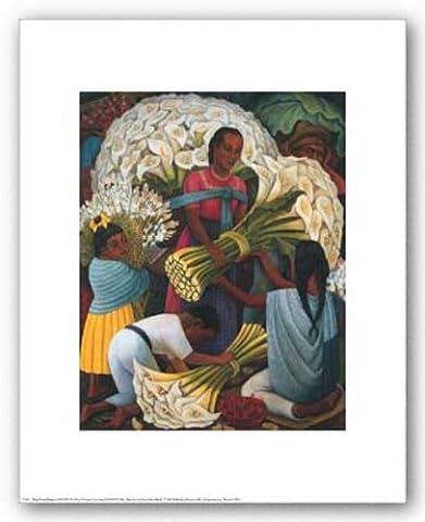 The Flower Vendor de Diego Rivera Tirages d'Art Poster