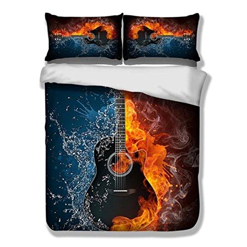 Duvet Set 3D gitarre aktive druck-und färben bettbezug bettwäsche set und kissenbezug Polyester königin könig , 150cm*200cm
