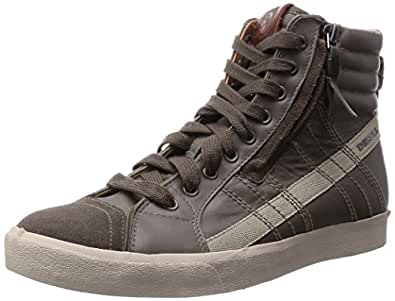Diesel Men's Bungee Cord and Cobblestone Leather Sneakers  - 7.5 UK/India (41 EU)(8.5 US)