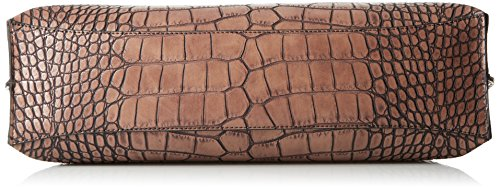 Armani Jeans Shopper De Reptile Marron Top Zip Brown Reptile