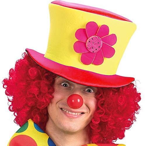 te Modell 4 - Hut Clown Saltinbanco Kostüm Verkleidung Karneval Halloween Cosplay Zubehör Mann Frau Kinder ()
