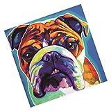 FITYLE DIY 5D Diamant Malerei Stickerei Kreuz Kunsthandwerk Stich Zuhause Dekor - Bulldogge, 30x30cm