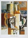 Leinwandbild Pablo Picasso - Violine und Gitarre - 56.0 x 71.2cm - Premiumqualität - Klassische Moderne, Kubismus, Stillleben, Musikinstrumente, Geige, Gitaarre, Ornamente, g.. - MADE IN GERMANY - ART-GALERIE-SHOPde