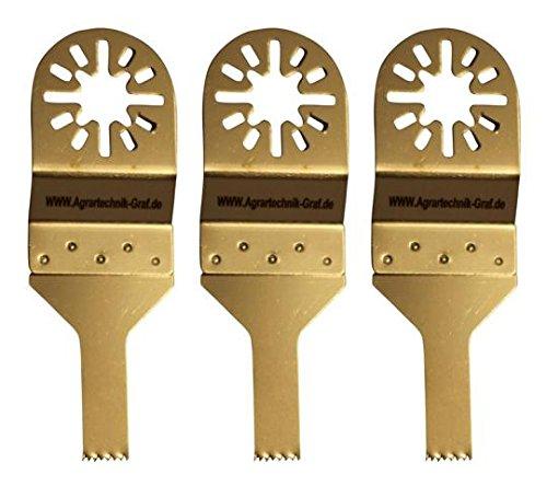 Agrartechnik-Graf Standard Sägeblatt 10 mm für Holz, Plastik und Gipskarton 3er Set für Dema UW