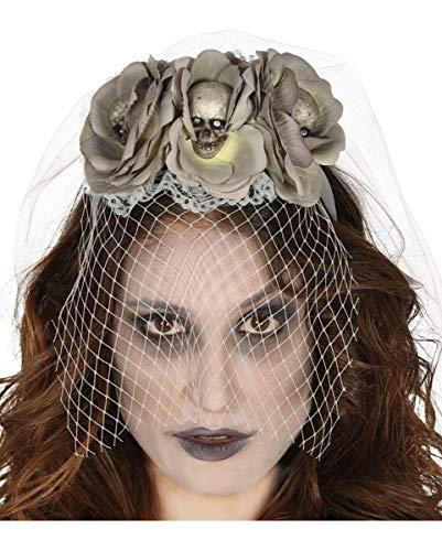 Horror-Shop Brautschleier Corpse Bride für Deine Halloween Verkleidung als untote ()