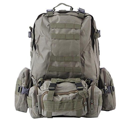HOUTBY® Borsa a tracolla unisex tattico militare zaini tattico camuffamento zaino di campeggio Escursionismo Bag verde