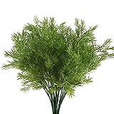 Nahuaa Plantas de Exterior Artificiales de plástico 4pcs Planta Falsa arbustos Artificiales para decoración de Mesa hogar jardín