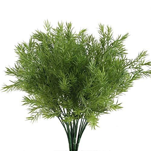 Nahuaa Plantas de Exterior Artificiales de plástico 4pcs Planta Falsa arbustos Artificiales...