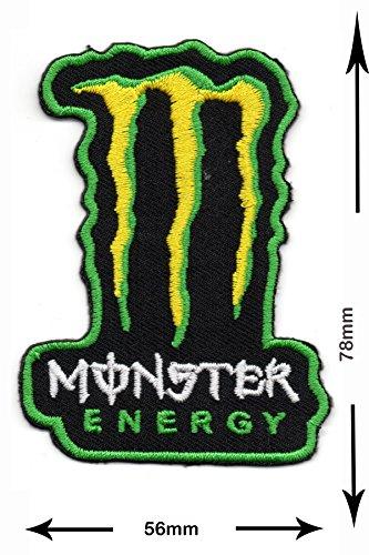 Patches–Energy Drink Herrn–Green–Cool Brands–Monster–monster- Wandleuchte Embroidery Wappen bestickt kostüm Geschenk–Patch