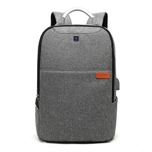 GJF Laptop-Rucksack, Schultasche wasserdicht Oxford Business Travel Daypack mit USB-Ladegerät, für 14-Zoll-Computer Notebook Rucksack College Outdoor Casual Männer Frauen-lightgray