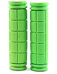 VANKER 1 par populares colores de MTB de la bicicleta anti de la resbalón de goma del manillar de agarre cubierta de accesorios (verde)