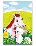 Best Poster Friend Frame Two Pictures - GUHUA Two Horses Mom And Child Digital Oil Review