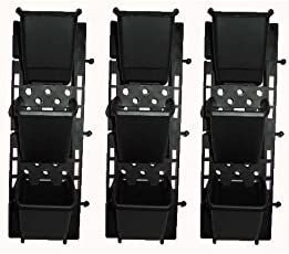 CAPPL Vertical Garden Panel 3 Frames and 9 Pots, Black