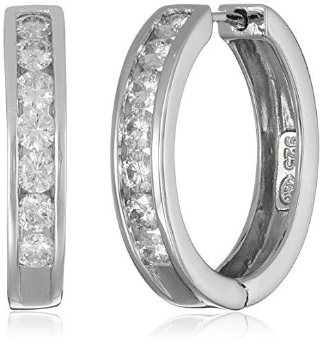 platinum-over-sterling-silver-channel-set-moissanite-huggie-hoop-earrings