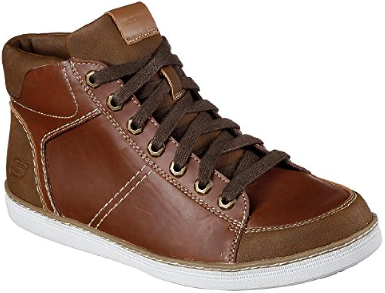 Skechers Zapatillas de Piel Para Hombre Marrón Marrón Claro