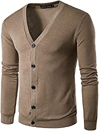 BUSIM Men's Long Sleeve Sweaters Autumn Winter Buttons V-Neck Warm Simple Fashion Knit Sweaters Buttons Cardigans...