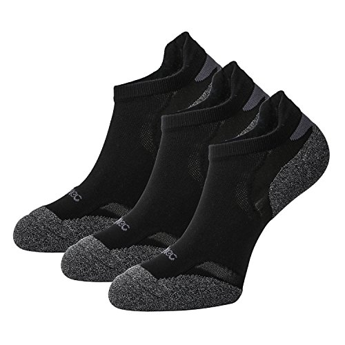 Komfort Low Quarter Sock (Weekend Peninsula 3 Paar Sportsocken für Herren Damen Laufsocken Sneaker Funktionssocken Running Socken Sport Damen Kurz Atmungsaktiv Quarter Baumwolle (EU 39-42, Schwarz - 3 Paare))
