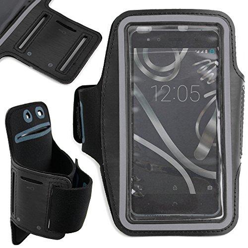 DURAGADGET Brazalete Deportivo Negro De Neopreno para Smartphone BQ Aquaris U Lite/U Plus/U / X5 Plus - Hipoalergénico Y Antideslizante