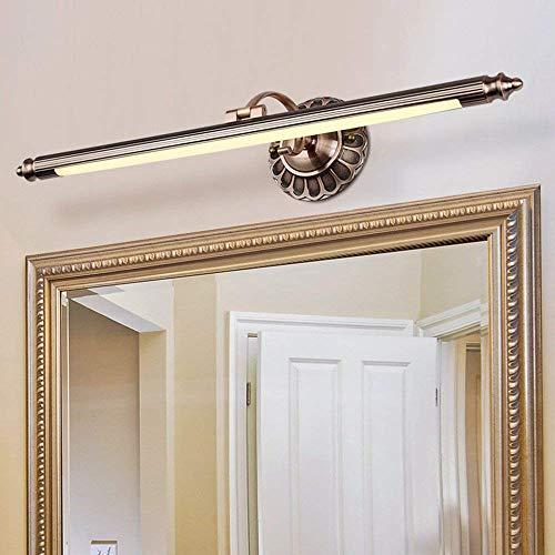 Glückstein LED Spiegelleuchte,8W antik Bilderleuchte Vintage Spiegellampe schwenkbar aus Rostfrei...