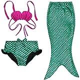 Kids Girls Fancy Mermaid Tail Bikini Set Swimwear Swimsuit Swimming Costume Charming Bikini Of Beach Fits Most Of Little Girls