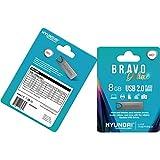 HYUNDAI Technology U2BK/8GASG Bravo Deluxe USB-Speicherstick (8 GB, USB 2.0) Space Grey