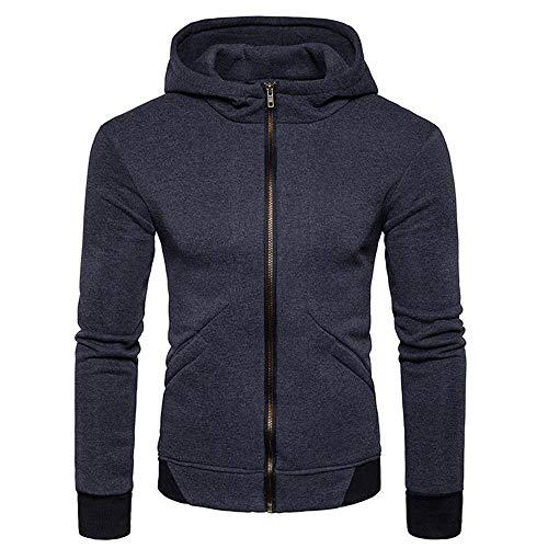 Beixundianzi giacca in felpa patchwork da uomo felpa con zip slim con cappuccio camicia in cardigan con zip manica lunga top giacca da cappotto elegante dark gray 2xl