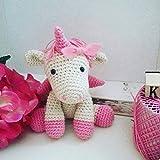 Polly _ unicorno all'uncinetto Amigurumi. regalo per bambini e neonati. regalo personalizzabile
