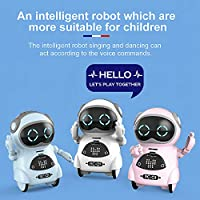 Mainstayae 939A Pocket Robot Talking Interactive Dialogue Voice Recognition Record Singing Dancing Telling Story Mini Robot Toy