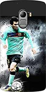 Dot Print Messi Footballer Printed Back Cover For Lenovo Vibe K4 Note