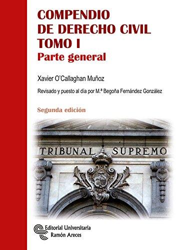 Compendio de Derecho Civil T I: 1 (Manuales) por Xavier O'Callaghan Muñoz