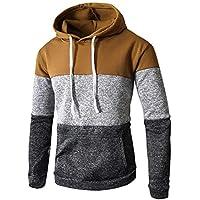 Herren Kapuzenpullover,TWBB Farbe Patchwork Pullover Mit Tasche Herbst Winter Lange Ärmel Mantel Outwear Sweatjacke Jacke Hemd