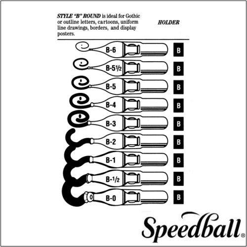 Preisvergleich Produktbild Speedball Round Pen Nibs B-5 box of 12 by Speedball