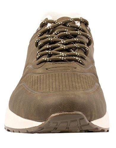 Elara Trendige Unisex Sneaker | Damen Herren Kinder Sport Laufschuhe | Turnschuhe Army Green Basic