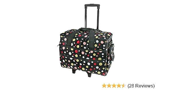 Black and Multi Spot Sewing Machine Trolley Bag 51 x 38 x 28cmBirch 006106//BM