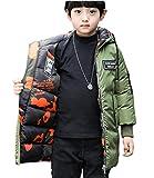 YYF Kinder Jungen Langarm Parka Kindermantel Outwear Wintermantel mit Kapuze Winterjacke Steppjcake Coat