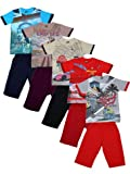#10: MITWA ENTERPRISES Mitwa's Cotton Three-Fourth Pant with Tees for Boys, Pack of 5, Multicoloured-Venus