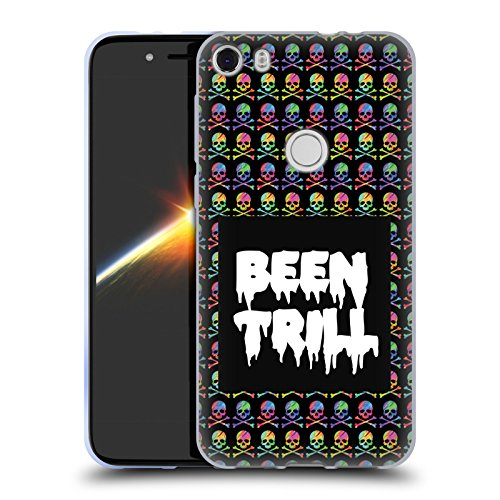 Official Been Trill Skull & Crossbone Patterns Colourful Prints Soft Gel Case for Alcatel Idol 5 (Slips Print Screen)